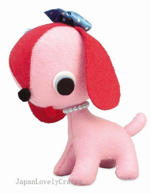 Felt Stuffed Animal Puppy Dog Japanese Diy Kit Die Cut Felt Easy