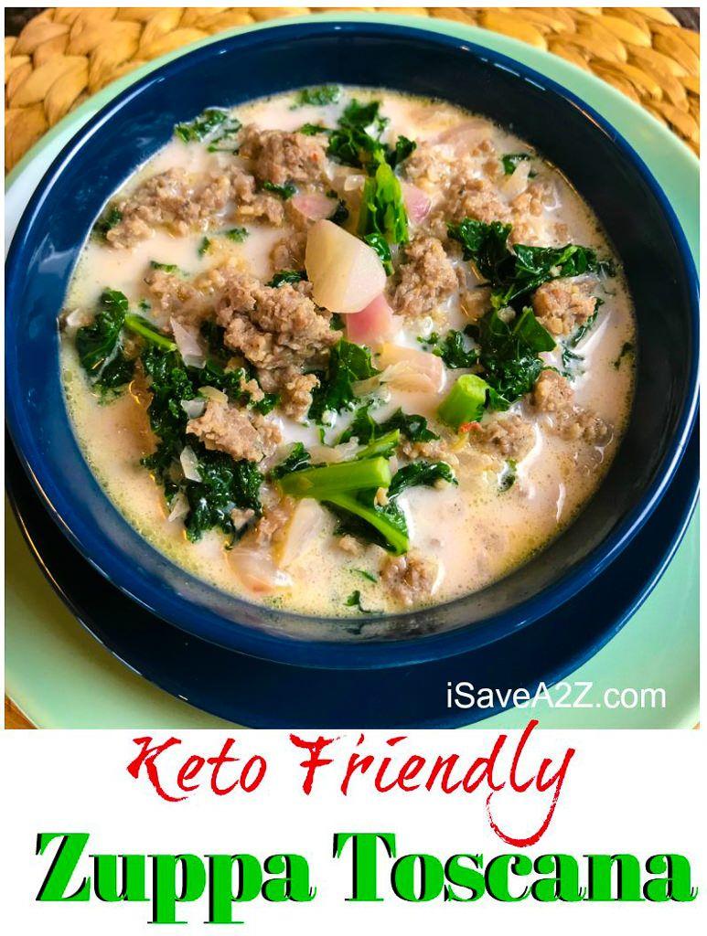 Low Carb Keto Zuppa Toscana Soup #zuppatoscanasoup