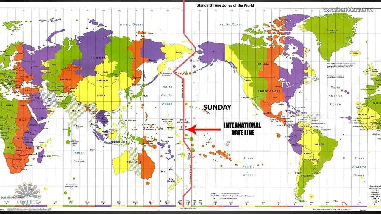 What Is The International Date Line IDL And World Map Time Zones