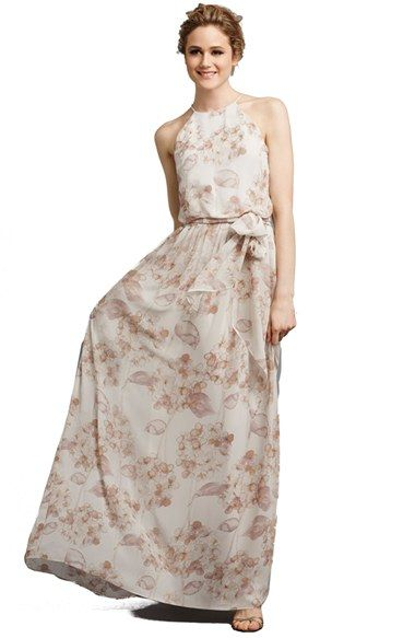 7c6225d73f Donna Morgan  Alana  Print Chiffon Halter Style Gown available at  Nordstrom
