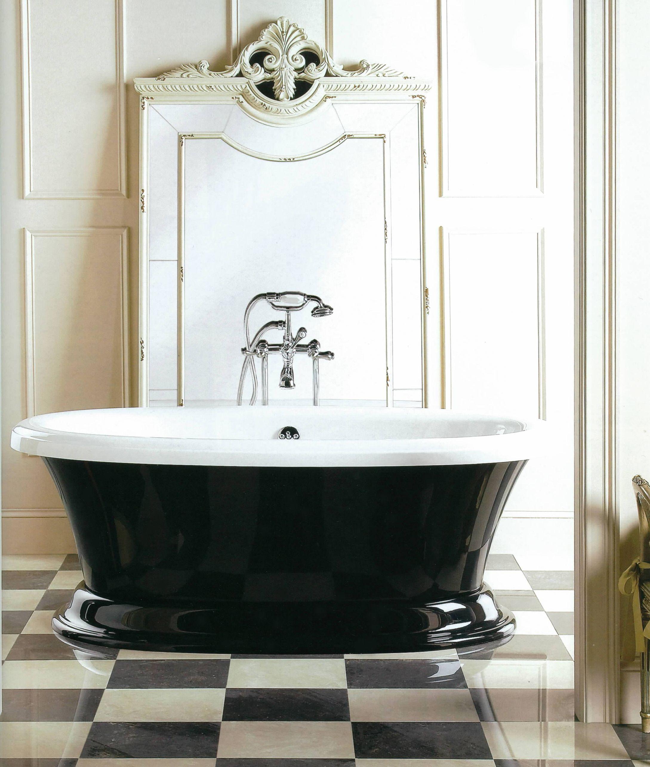 Black and white bathroom ideas pinterest - Aquatic Serenity 11 Freestanding Bath Tub Black And White Aquatic Black White Marble