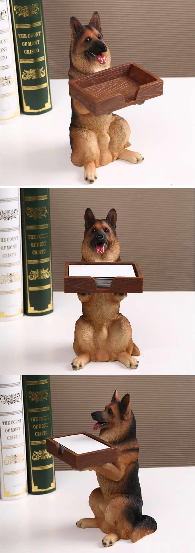 office pet ideas. Dog Figurine Business Card Holder For Office Desk Pet Ideas N