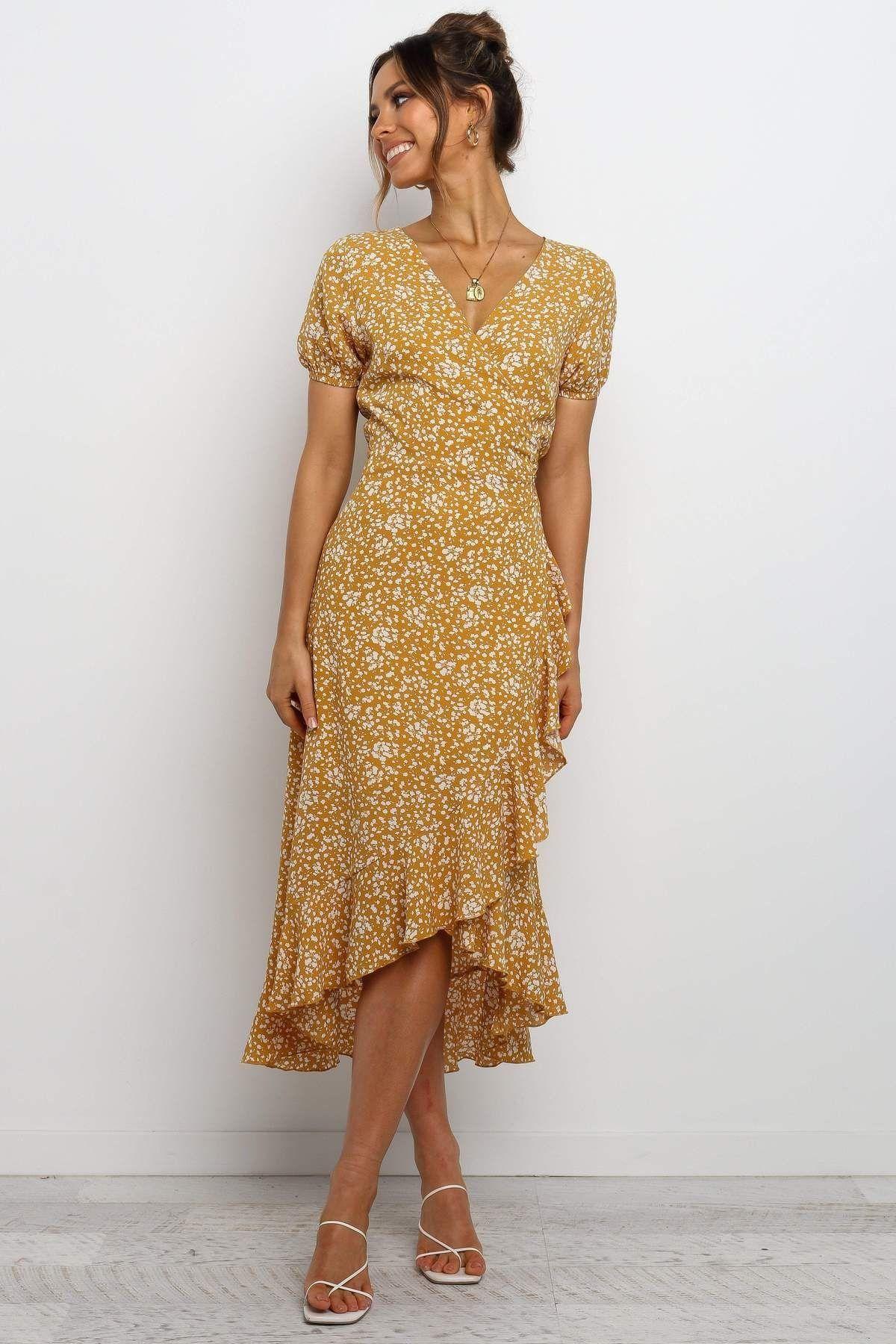 Nalyhn Dress Mustard 1000 Knee Length Dresses Casual Knee Length Dresses Dresses [ 1800 x 1200 Pixel ]