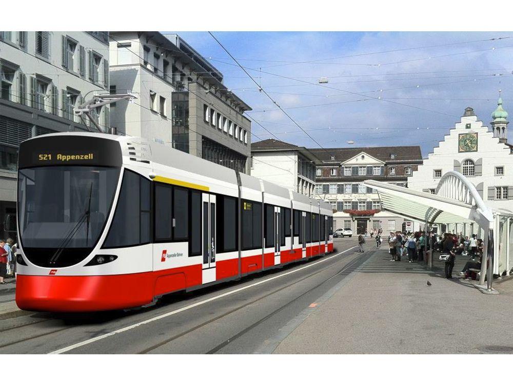 Impression Of Stadler Light Rail Vehicle For Appenzeller Bahnen