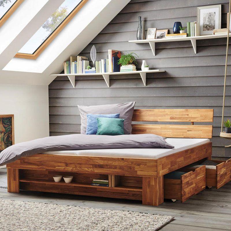 Holzernes Einzelbett Aus Hellem Und Weissem Holz Bett 120 Betten Kaufen Bett