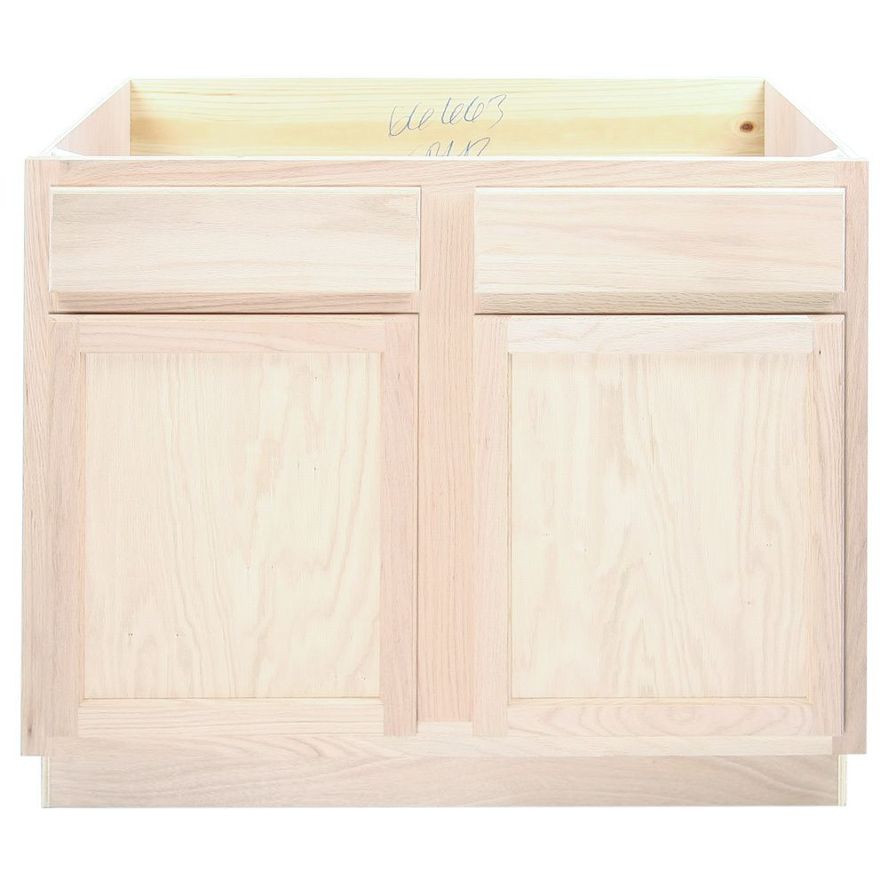Kitchen Sink Base Cabinet Unfinished Poplar Shaker Style 42 Sink Cabinet Base Cabinets Solid Wood Kitchen Cabinets