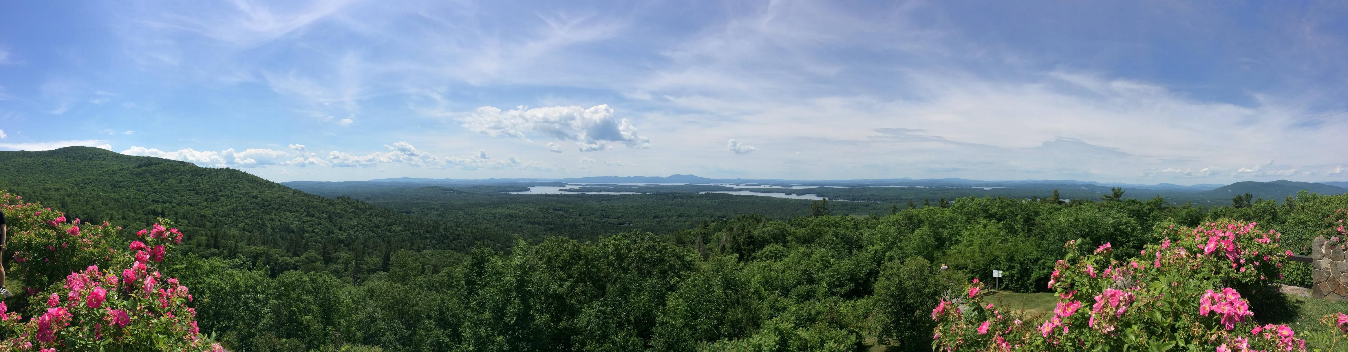 A Picture Taken from the Top of the Ossipee Mountains in New Hampshire [OC] [4655x1218] http://ift.tt/29ri3ug