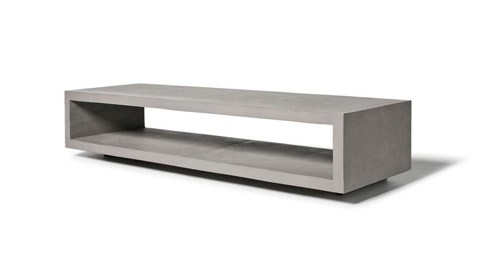 Monobloc Concrete Tv Cabinet by LYON BETON made in France on