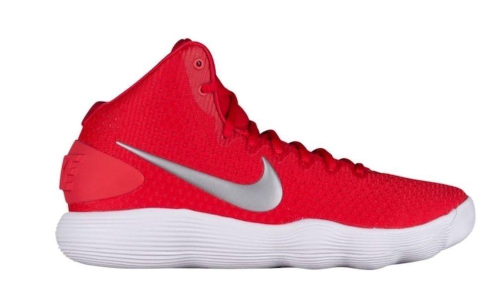 wholesale dealer 06f43 63aea Nike Hyperdunk 2017 TB Mens Basketball Shoes 11.5 University Red Metallic  Silver  Nike  BasketballShoes