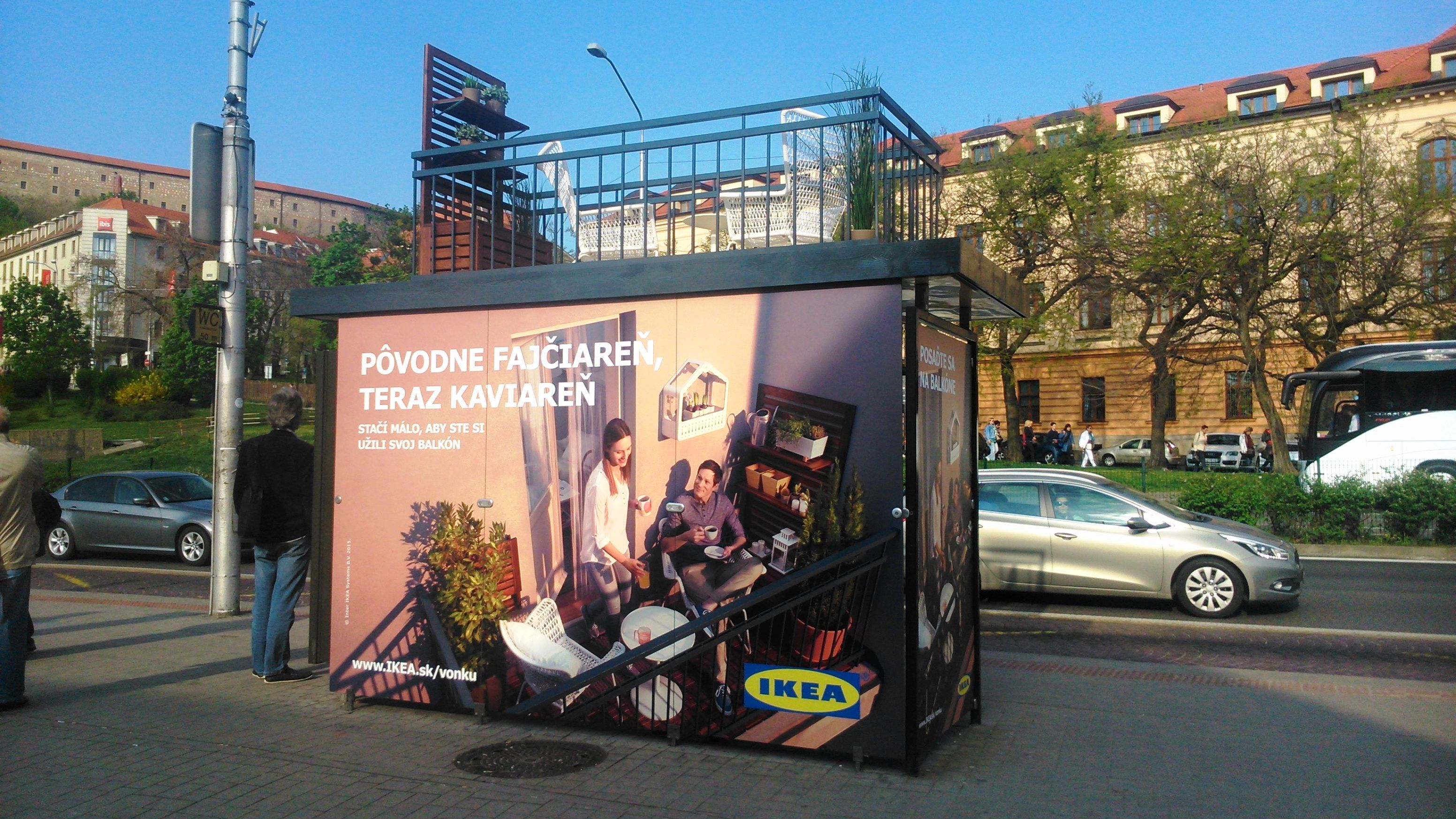 ikea bus stop ad formerly a smoking room now a caf advertising pinterest smoking room. Black Bedroom Furniture Sets. Home Design Ideas