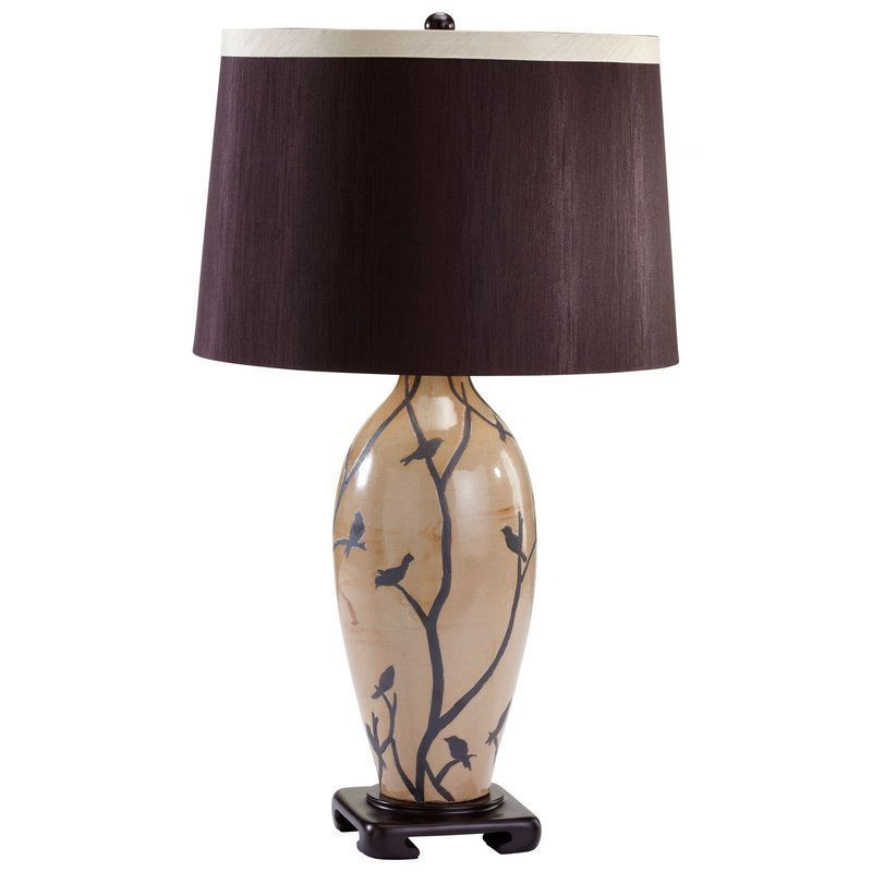 Cyan Design 04475 Beijing 1 Light Table Lamp Brown And Tan Lamps Table Lamps