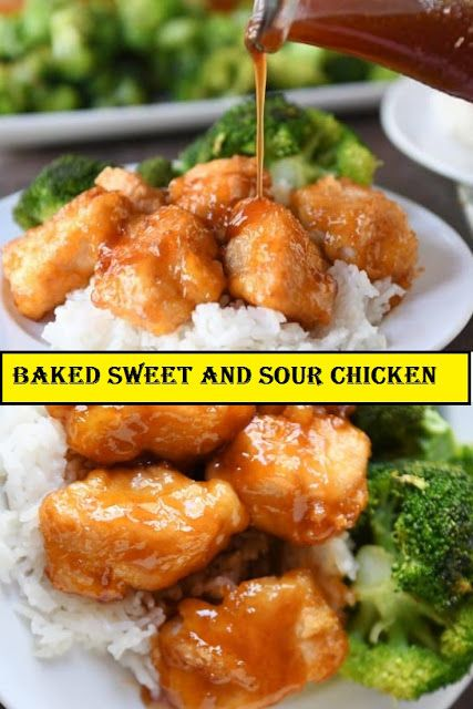 HEALTHY BAKED SWEET AND SOUR CHICKEN. One of the best parts of this meal is the …