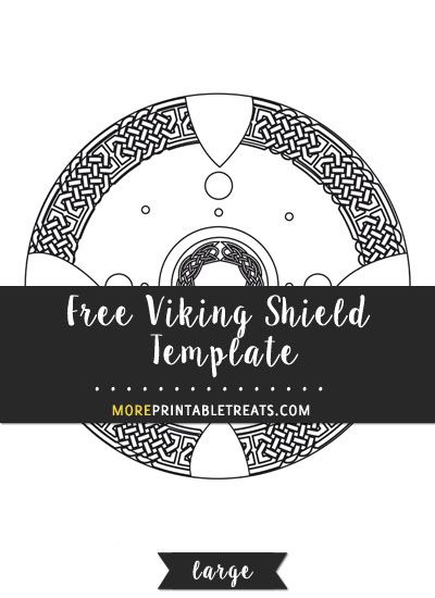 Free Viking Shield Template - Large | Shapes and Templates ...