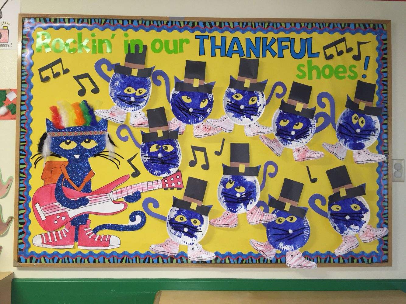Thanksgiving Pete The Cat Preschool Bulletin Board Craft