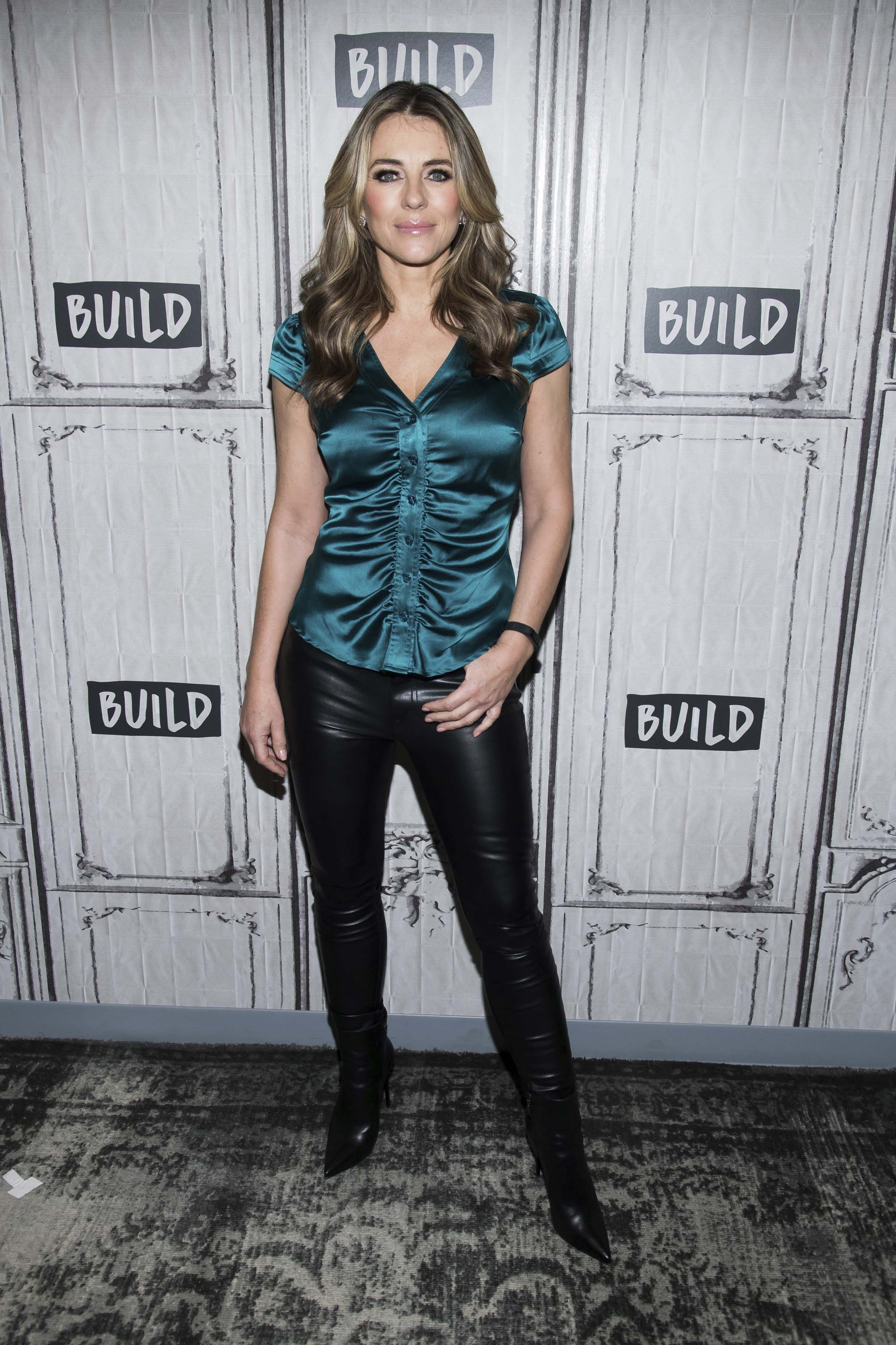 b35b0d5a037 Elizabeth Hurley visits BUILD Series to discuss  The Royals ...