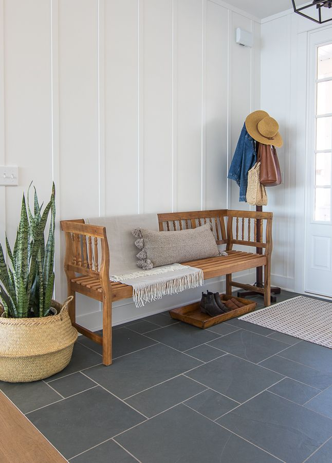 Entryway Boot Bench