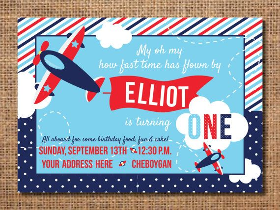 Airplane birthday invitation this blue and red printable party airplane birthday invitation first birthday boy invitation airplane birthday party boy first birthday invite airplane party decor filmwisefo