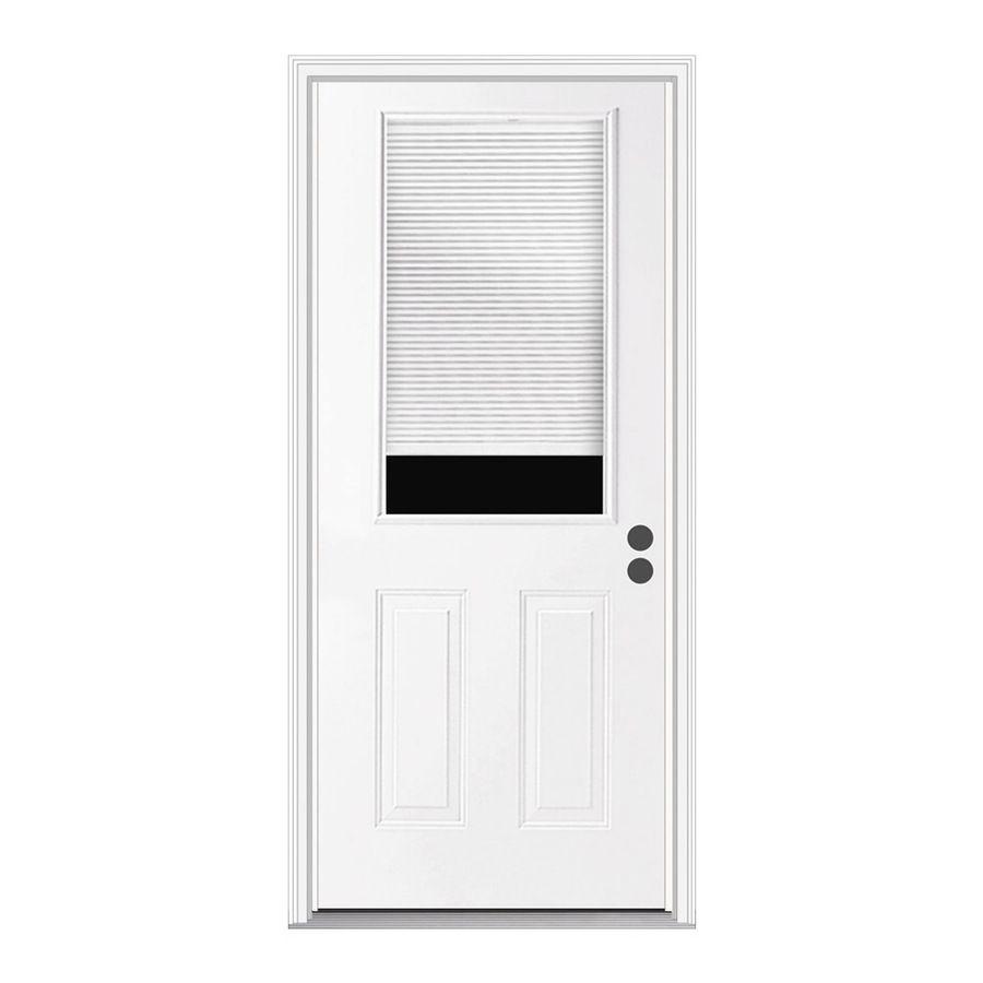 Reliabilt lefthand inswing steel primed entry door common in x