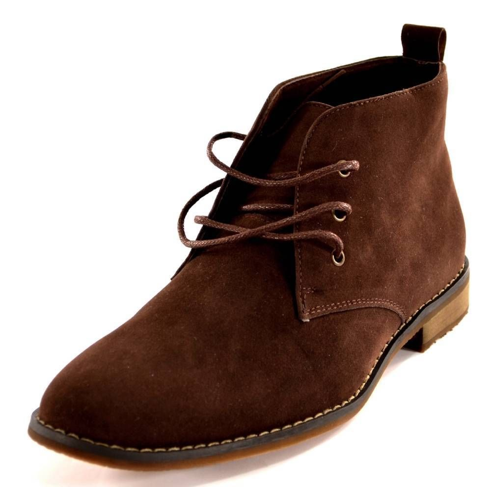 16daf7aa480 Mens Boots Brown Size 7 By Franco Vanucci Chukka Ankle Casual Lace ...