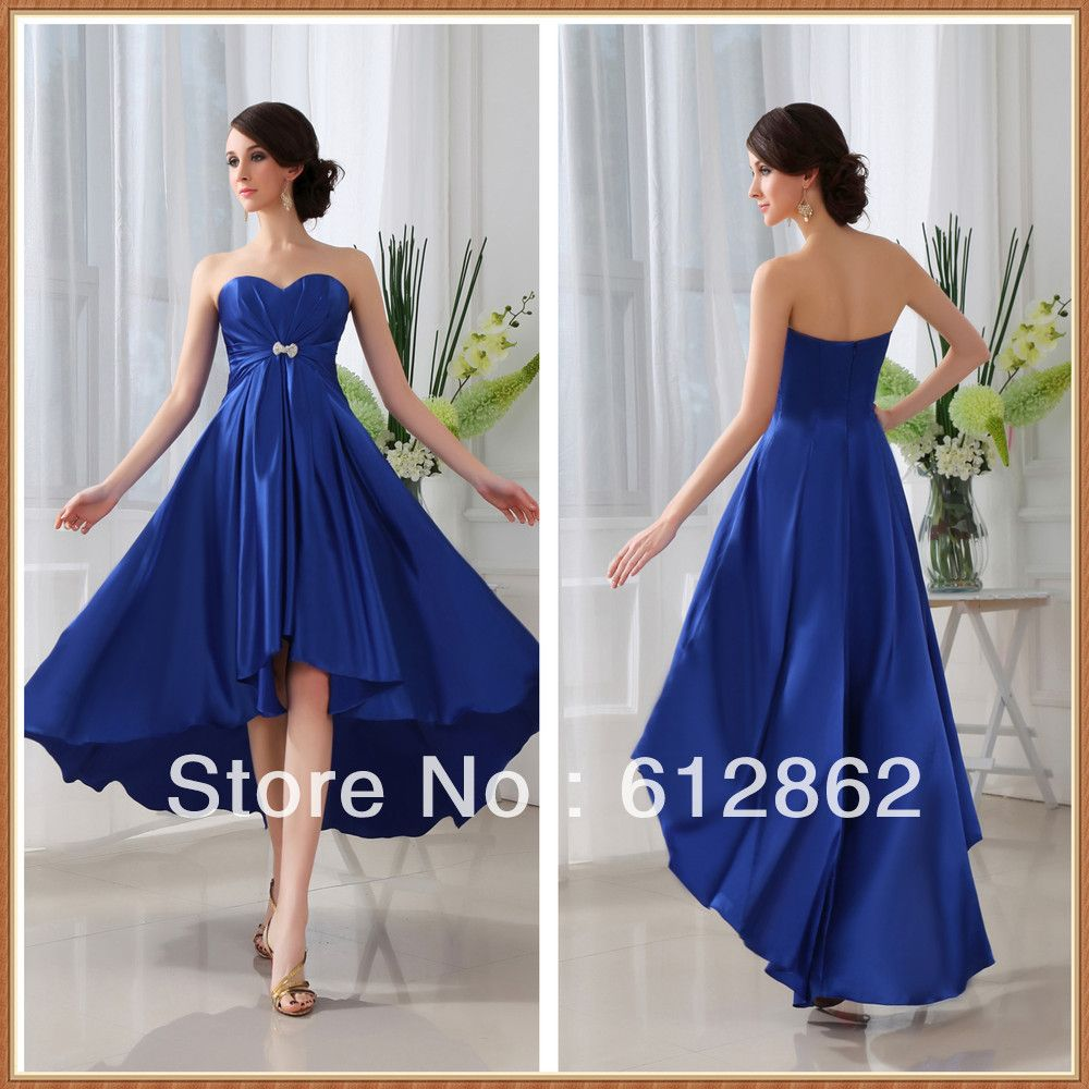 Strapless sweetheart front short long back royal blue bridesmaid strapless sweetheart front short long back royal blue bridesmaid dresses 7900 ombrellifo Gallery