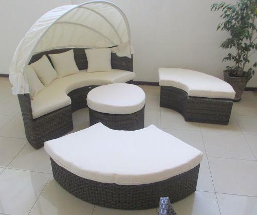 Muebles de terraza ratan pvc calidad hotelera 100 nuevos for Muebles terraza rattan pvc chile