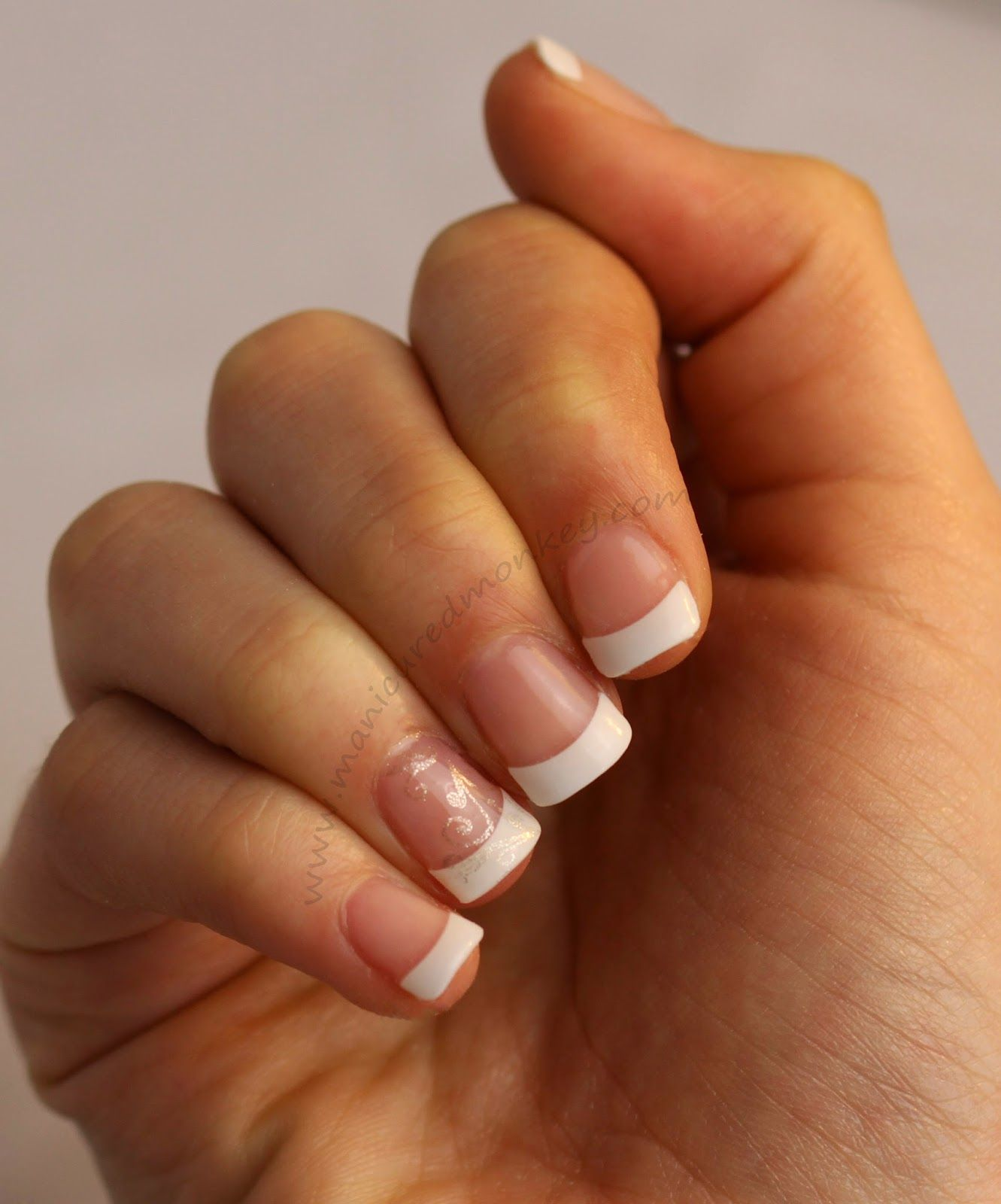 French Tip Acrygel Nails Unas