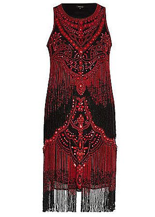 Red and black beaded flapper dress. I love the detail. |1920s dress ...