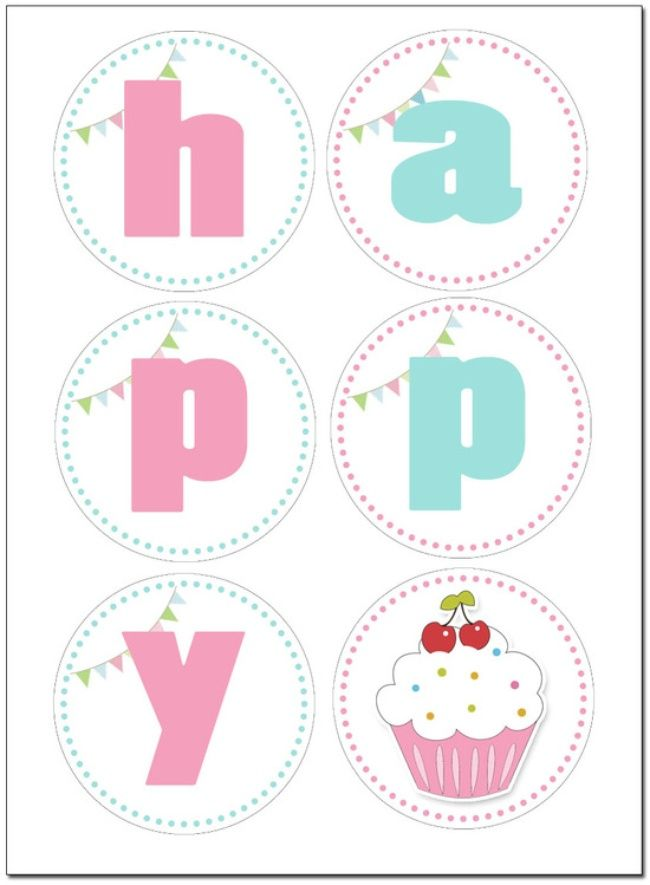 Cupcake Birthday Party FREE Printables Party Cupcake Theme