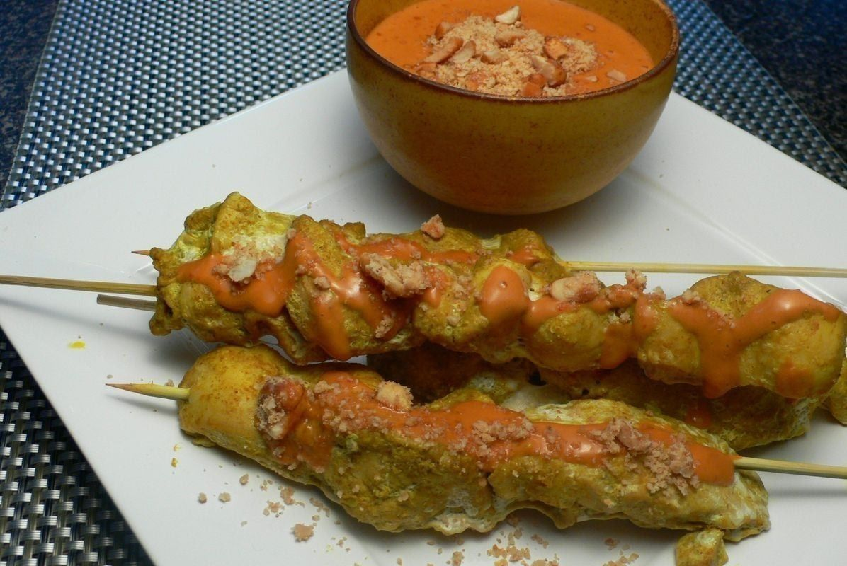 Chicken satay with spicy peanut sauce food pinterest spicy food forumfinder Images