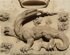 """""""... Aelianus speaks of a dragon in India, which when it perceived Alexander's army near at hand, gave such a prodigious hiss and blast that it greatly frightened and disturbed the whole army : and he relates of another, that was in a valley near Mount Pelienaeus, in the Isle of Chios, whose hissing was very terrible.""""  - John Gill from an exposition of the Old and New Testaments, London, 1809"""