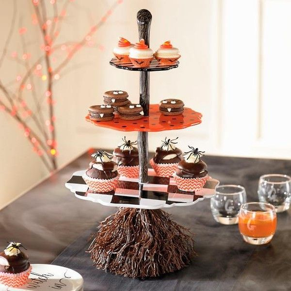Grandin Road Broomstick 3-Tiered Server Halloween Decoration ($129 - halloween decorations com