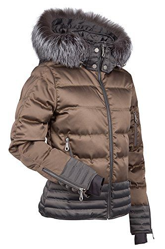 5bf7c201403010 Nils Womens Lara Real Fur Jacket BronzePewter 10 ** Details can be found by  clicking on the image. (This is an affiliate link) #WomenJacketsCoats