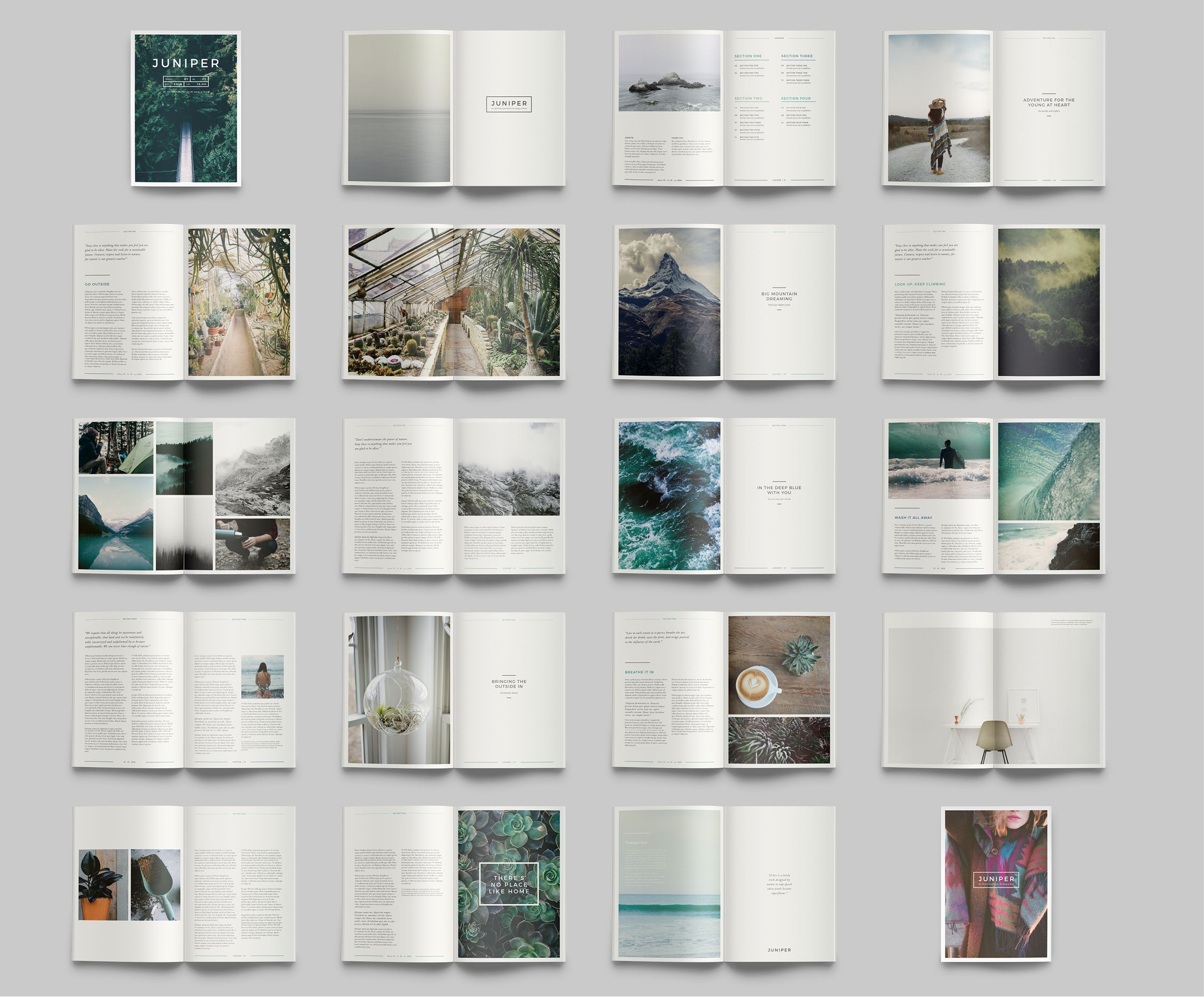 J U N I P E R Magazine Portfolio By 462 Collective On Creativemarket
