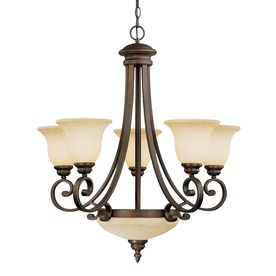 dining room light fixtures lowes   Millennium Lighting 7-Light Oxford Rubbed Bronze ...