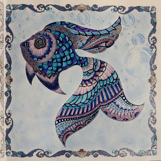 Lost Ocean Coloring Book Johanna Basford By Wendy