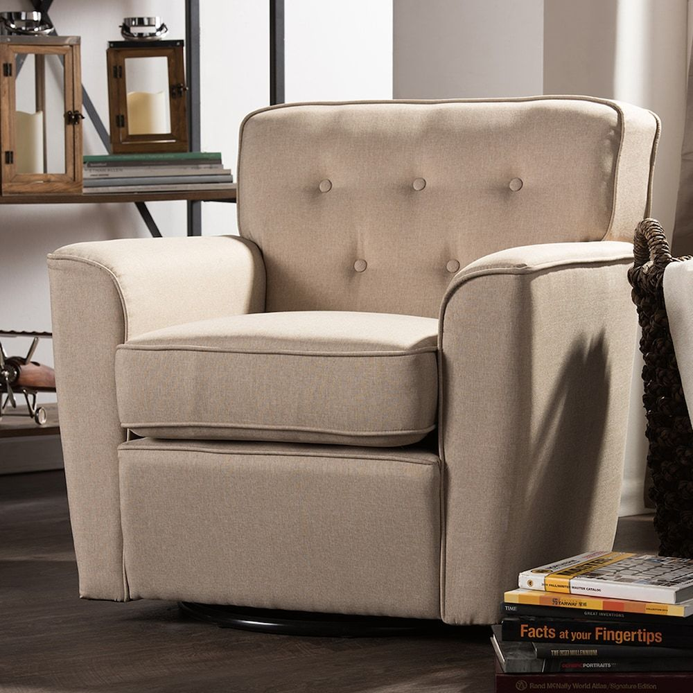 Super Baxton Studio Canberra Swivel Arm Chair Products Evergreenethics Interior Chair Design Evergreenethicsorg