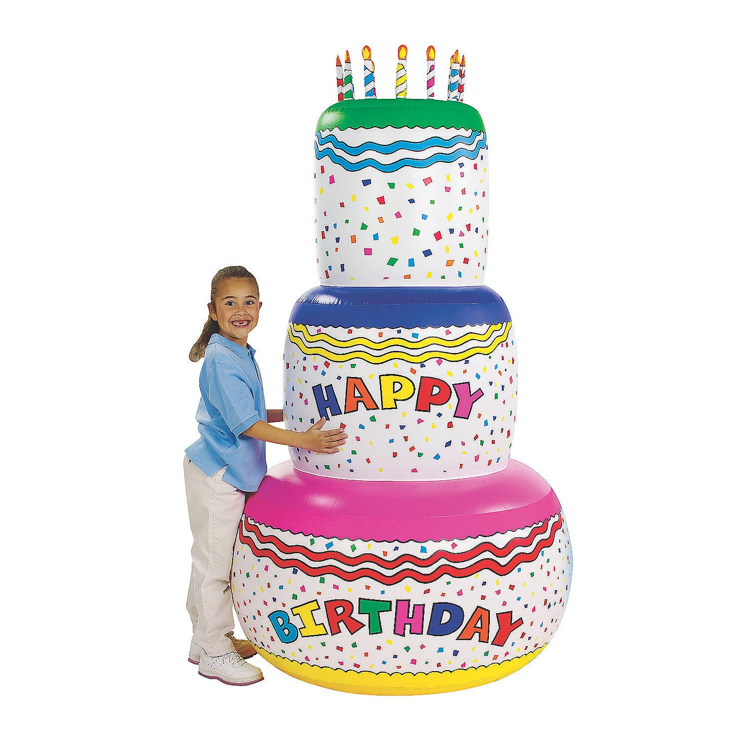 Tremendous Inflatable Jumbo Birthday Cake Orientaltrading Com For More Personalised Birthday Cards Bromeletsinfo