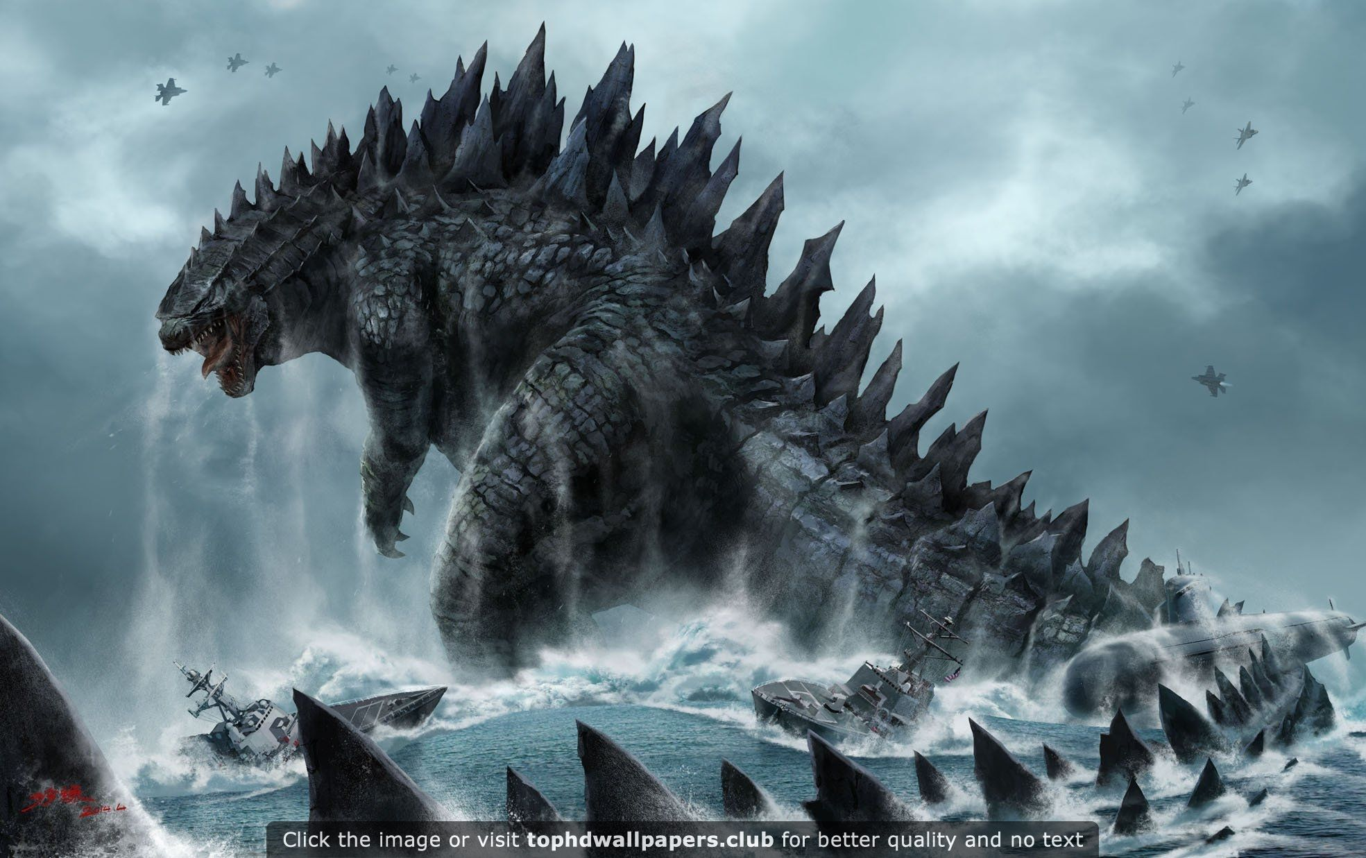 Godzilla for Your Desktop 4K or HD wallpaper for your PC, Mac or Mobile device