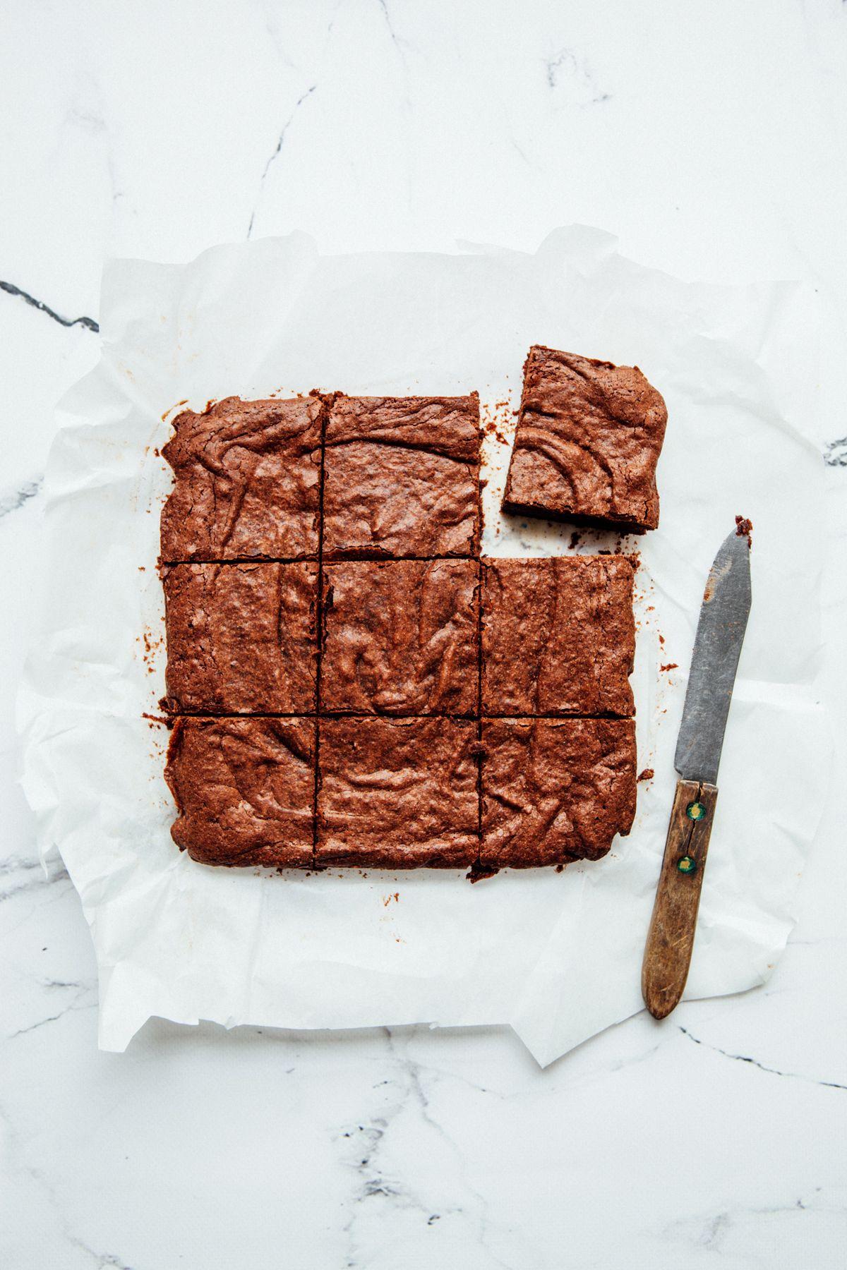 Double chocolate buckwheat brownies glutenfree recipe