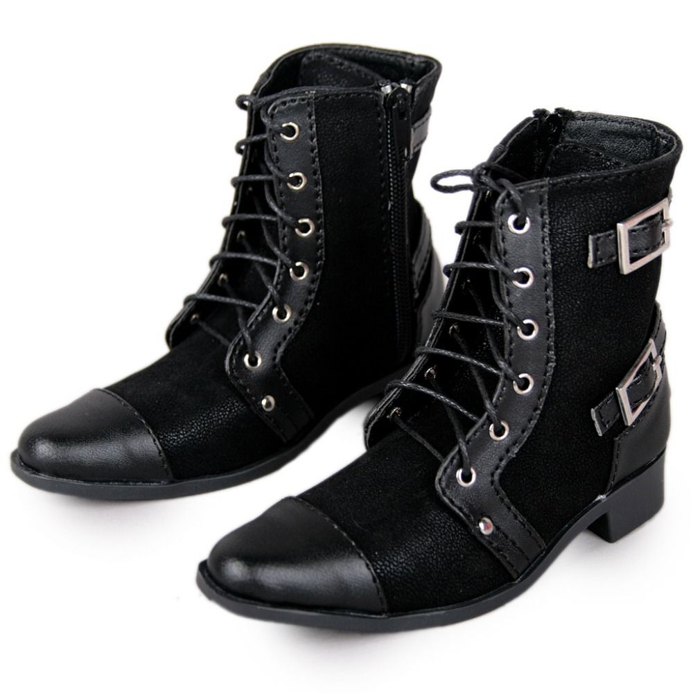 [wamami] 63# Black 1/3 SD AOD DOD BJD Dollfie Synthetic Leather Boots/ Shoes