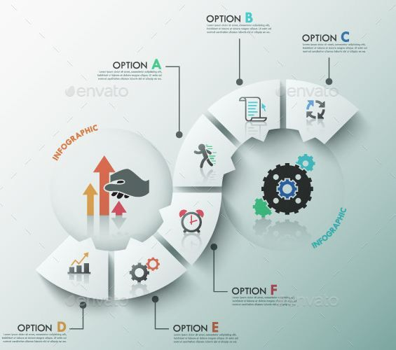 modern infographic process template 2 items design enthusiast