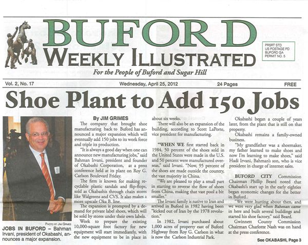 Okabashi Featured In Buford Weekly Illustrated Week Buford Locally Grown