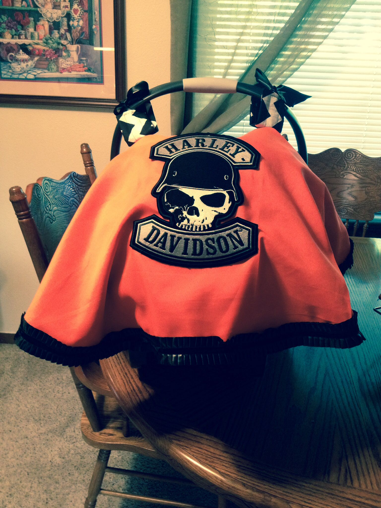 Harley Davidson Baby Car Seat Canopy Cover