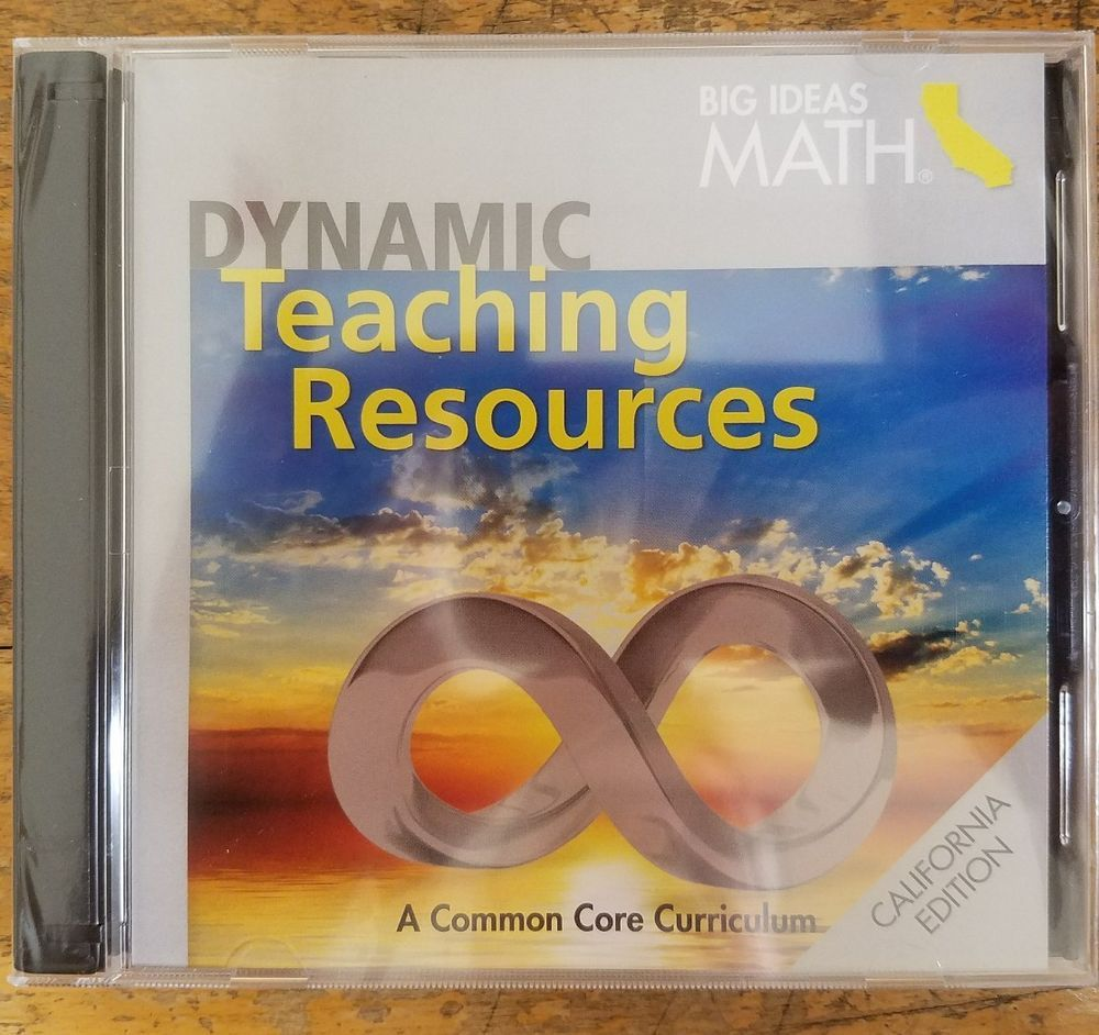 big ideas math dynamic teaching resources dvd grades 6 7 8 te