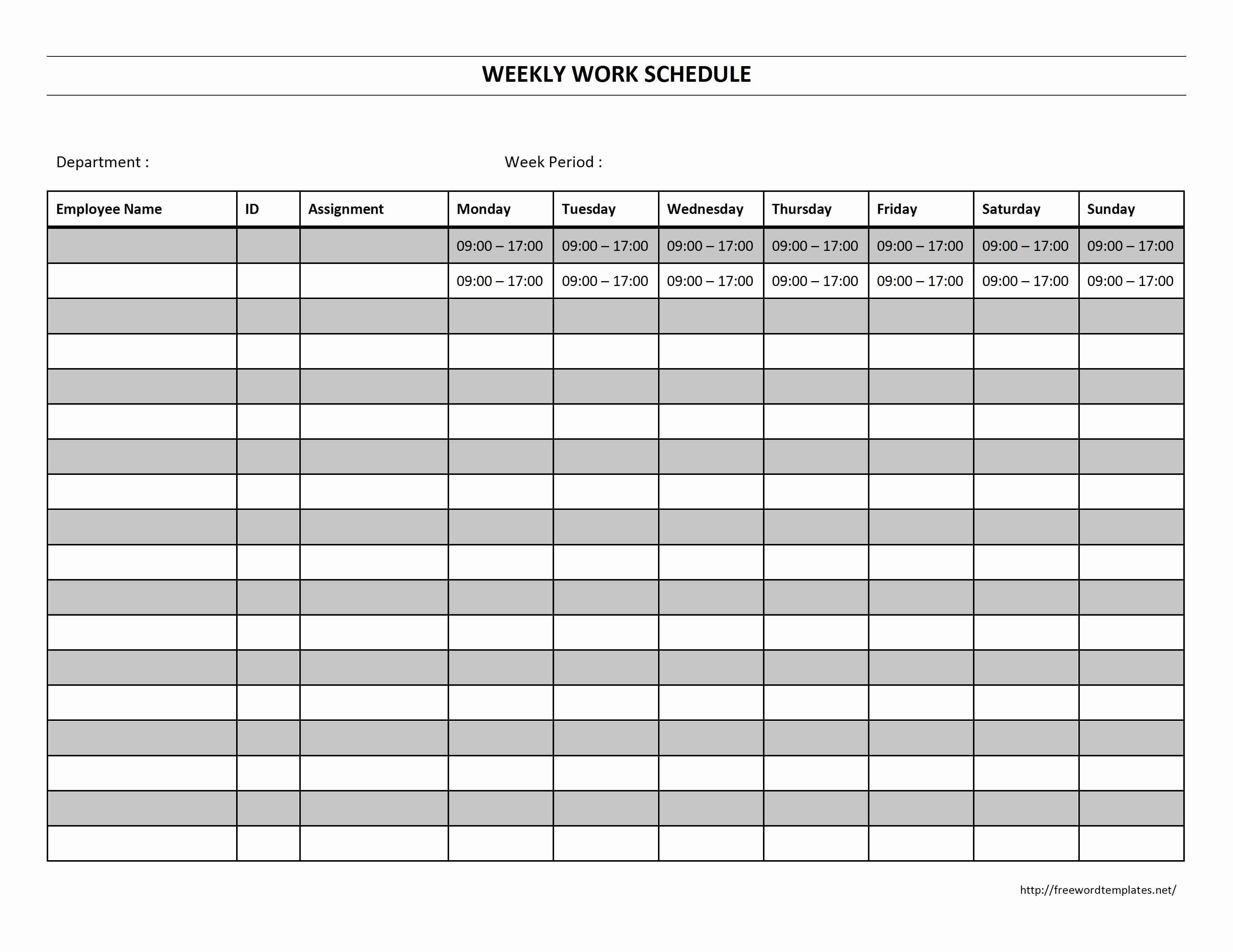 Blank Work Schedule Template Inspirational 6 Best Of Free Printable Blank Work Schedules Work Schedule Schedule Template Schedule Templates