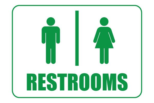 graphic regarding Printable Restroom Signs named Printable Restroom Indicators For Basic Obtain guy women of all ages