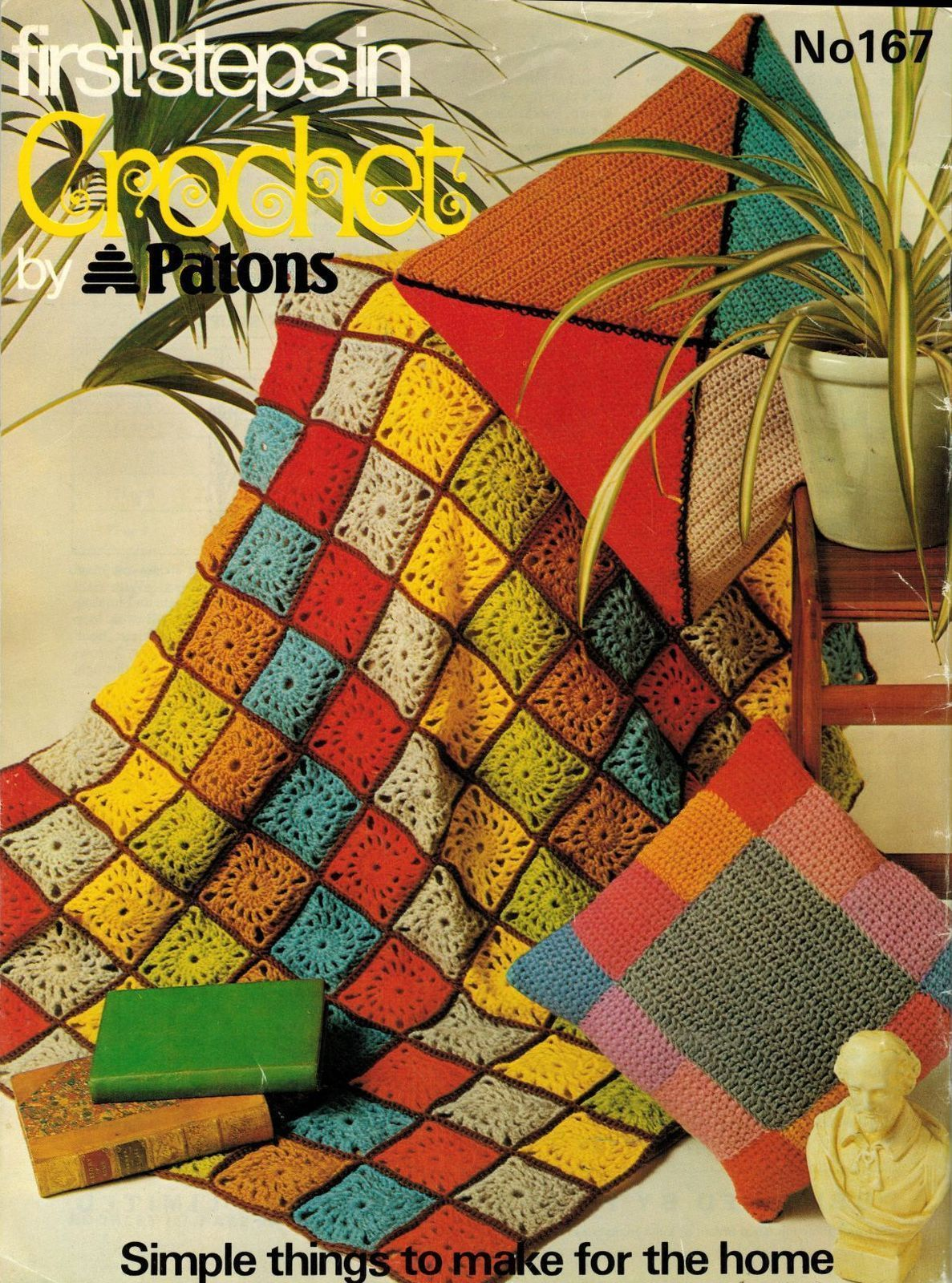 Vtg First Steps In Crochet Patons Beginners Guide Afghan Tea Cosy ...