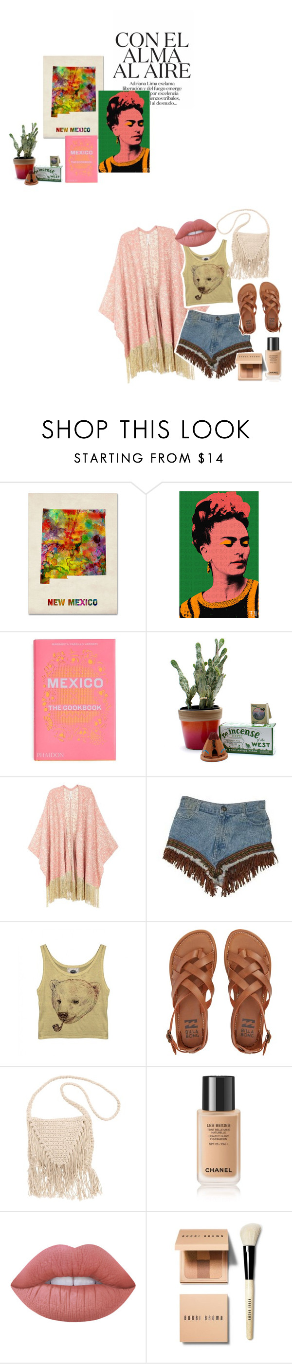 """""""Sin título #488"""" by marielmaschi ❤ liked on Polyvore featuring Trademark Fine Art, PHAIDON, Child Of Wild, Melissa McCarthy Seven7, Retrò, Billabong, Lime Crime, Bobbi Brown Cosmetics and plus size clothing"""
