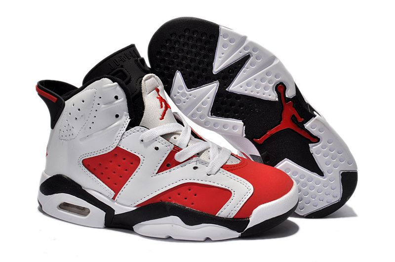 promo code 3e435 d74ef Big Kids Jordan Shoes Kids Air Jordan 6 Retro White Carmine Black  Kids Air Jordan  6 - These kids shoes feature similar elements from the Air Jordan ...