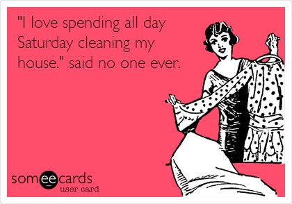 I Love Spending All Day Saturday Cleaning My House Said No One Ever Cleaning Quotes Funny Cleaning Quotes House Cleaning Humor